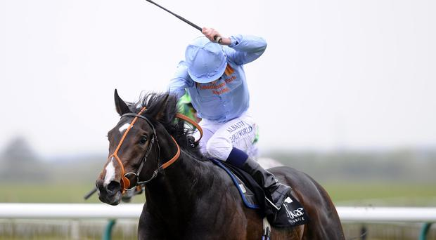 Toormore is driven to victory in last month's Craven Stakes at Newmarket by Ryan Moore - today he will be ridden by Richard Hughes racecourse on April 17, 2014 in Newmarket, England. Photo: Alan Crowhurst/Getty Images