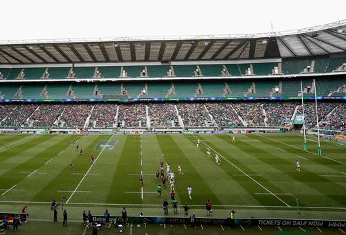 The empty seats at Twickenham tell their own story. Photo: Harry Engels/Getty Images