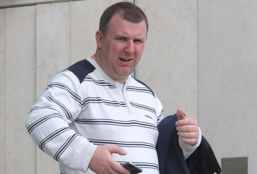 Stephen Cassidy pictured after his appearance at Dublin District Court