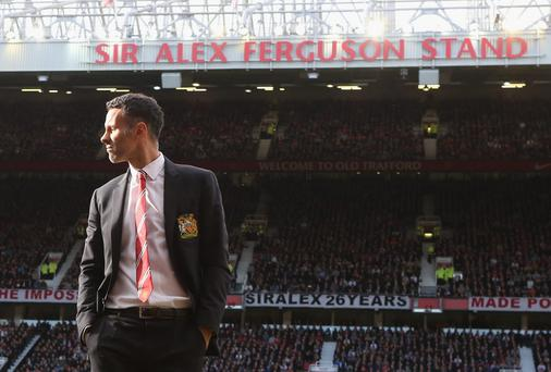 Ryan Giggs may be asked to stay on as a symbolic link to Manchester United's past, but whether he would be satisfied with that is as yet unknown.. Photo: John Peters/Man Utd via Getty Images