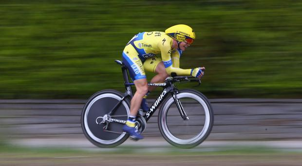 Nicolas Roche's Tour de Romandie has turned to disappointment with little chance now of making an impression on the general classification. Photo: Michael Steele - Velo/Getty Images