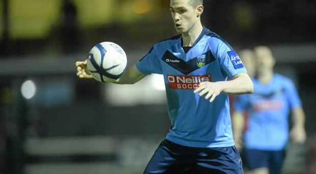 Cillian Morrison's scored the decisive goal for UCD against Drogheda United at Belfield last night. Photo: Pat Murphy / SPORTSFILE