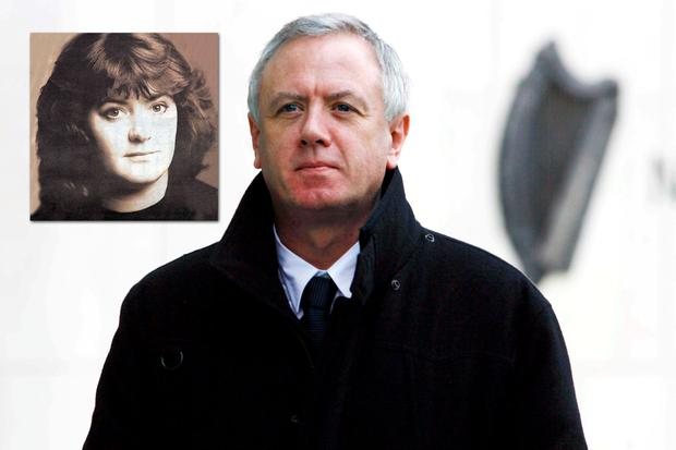 Eamonn Lillis and his wife Celine Cawley (inset), whom he killed in 2008 on the patio of their home in Dublin