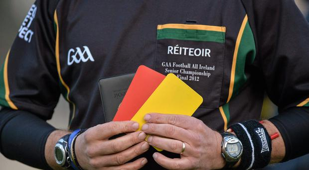 In total, 95 black cards were brandished in the Allianz Football League this season