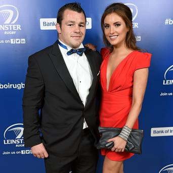 Leinster's Cian Healy and Holly Carpenter in attendance at the Leinster Rugby Awards Ball.