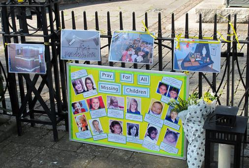Tributes to missing Madeleine McCann, at a low-key open-air service in the centre of Rothley, Leicestershire, on the seventh anniversary of the girl's disappearance
