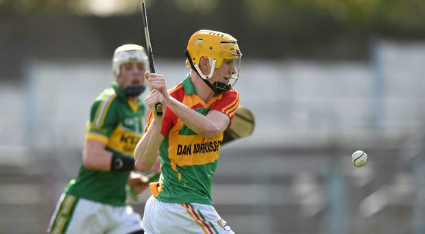 Hugh Paddy O'Byrne, Carlow, in action against Kerry