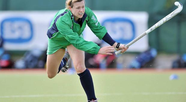Megan Frazer levelled for Ireland from a penalty corner