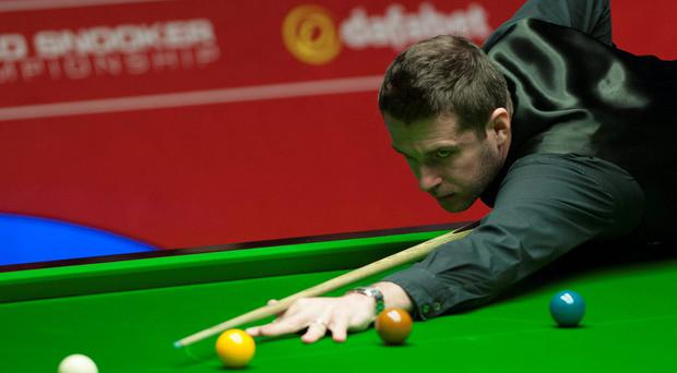 Mark Selby during his semi-final match against Neil Robertson during the Dafabet World Snooker Championships at The Crucible, Sheffield. PRESS ASSOCIATION Photo. Picture date: Saturday May 3, 2014. See PA story SNOOKER World. Photo credit should read: Tim Goode/PA Wire