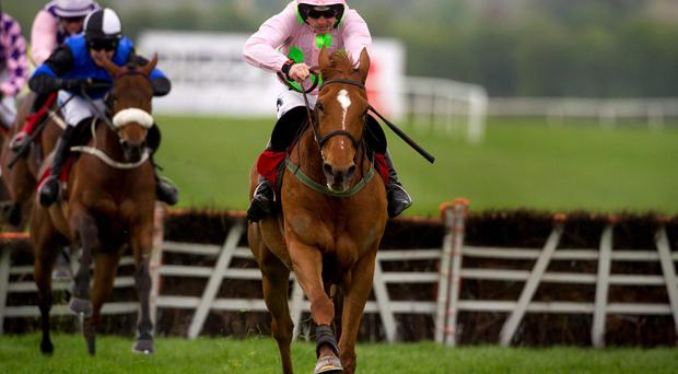 Annie Power ridden by Ruby Walsh wins he Irish Stallion Farms European Breeders Fund Mares Champion Hurdle at Punchestown