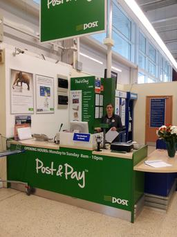 The changing face of post offices - An Post services at Tesco in Tullamore.