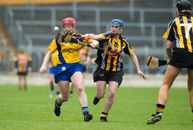 Deirdre Murphy, Clare, in action against Ann Dalton, Kilkenny