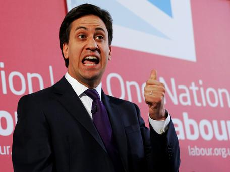 Ed Miliband accused the UK Prime Minister, David Cameron, of acting like a cheerleader.
