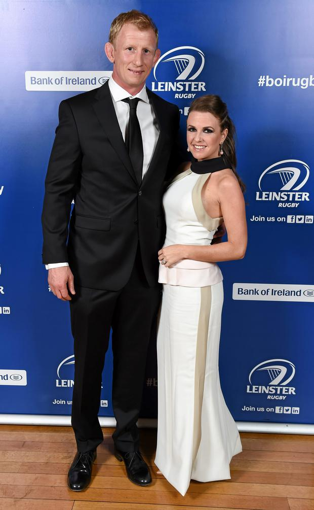 Leo Cullen and his wife Dairine Kennedy at the Leinster Rugby Awards Ball