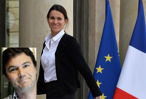French Minister of Culture and Communication Aurelie Filippetti and her ex Thomas Piketty (inset)
