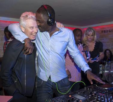 Adam Clayton and Idris Elba pictured Buck's Townhouse. International Super Star Idris Elba returned for his third DJ set at Dublin's Number 1 VIP venue. Photo: Patrick O'Leary