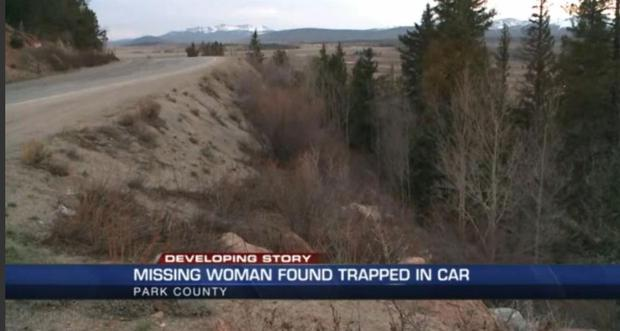 The woman was found alive in her car after going missing for five days