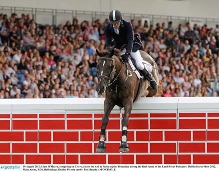 Action from the Dublin Horse Show 2012. There are concerns over points for imported horses. Photo: Pat Murphy/Sportsfile.