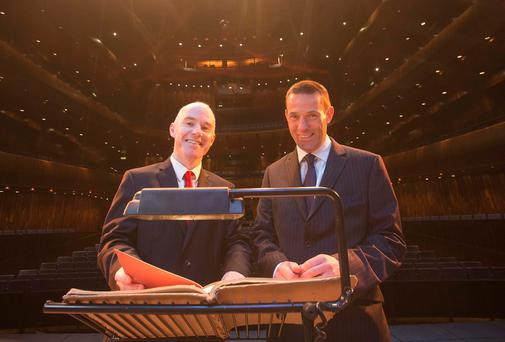 Pictured at Wexford Opera House are Eamon Carroll, Head of Corporate Development for Wexford Festival Opera and David Lane, Managing Director, Ecclesiastical Ireland