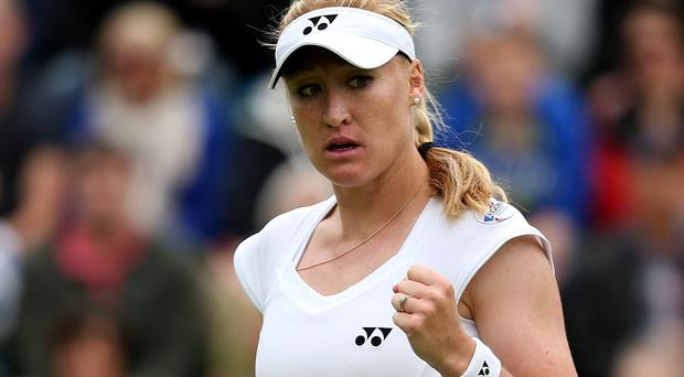 File photo dated 24/6/2013 of Elena Baltacha. PRESS ASSOCIATION Photo. Issue date: Monday May 5, 2014. Former British number one Elena Baltacha died of liver cancer at the age of 30 early on Sunday morning, her family have announced. See PA story TENNIS Baltacha. Photo credit should read: John Walton/PA Wire