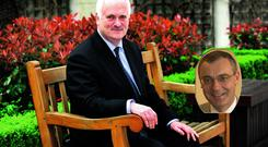 John Bruton previously held the role of EU ambassador to Washington, which David O'Sullivan (inset) has just been appointed to