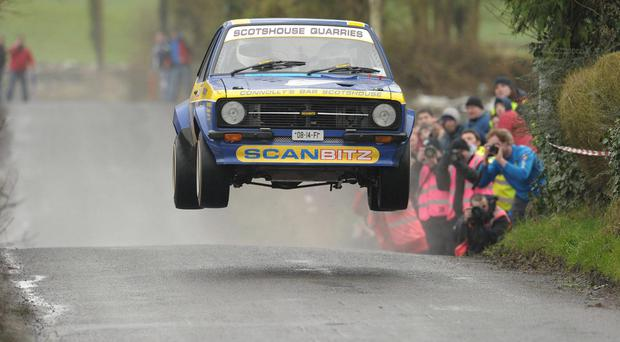 Daniel McKenna and Andrew Greenan, in their Ford Escort Mk 2, in 2012