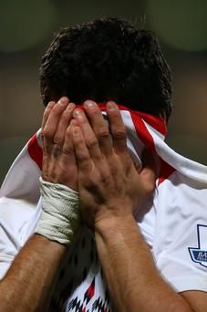 Luis Suarez can't contain his emotion following his team's 3-3 draw at Selhurst Park