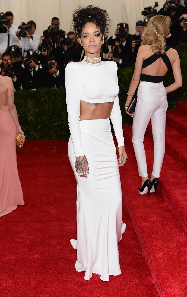If Rihanna had just avoided cutting up this gown she'd have landed on every best dressed list