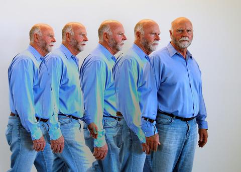 Genetic researcher J. Craig Venter is shown in a pictured in a multiple camera exposure in his office in California. Reuters/Mike Blake/Files