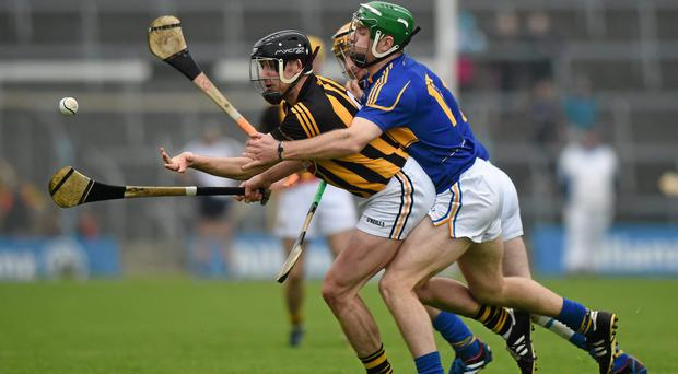Action from the NHL final, Tipperary v Kilkenny, played in Semple Stadium