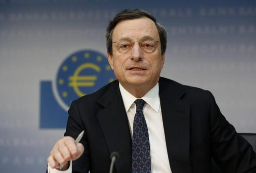 The President of the European Central Bank, Mario Draghi