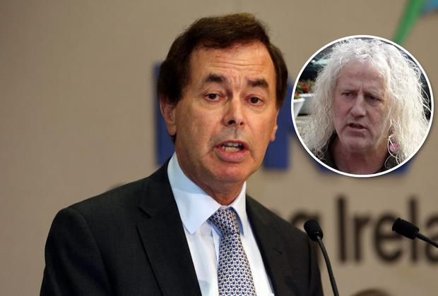 Justice Minister Alan Shatter and Independent TD Mick Wallace (inset). The latter has said the minister is unfit to hold office.