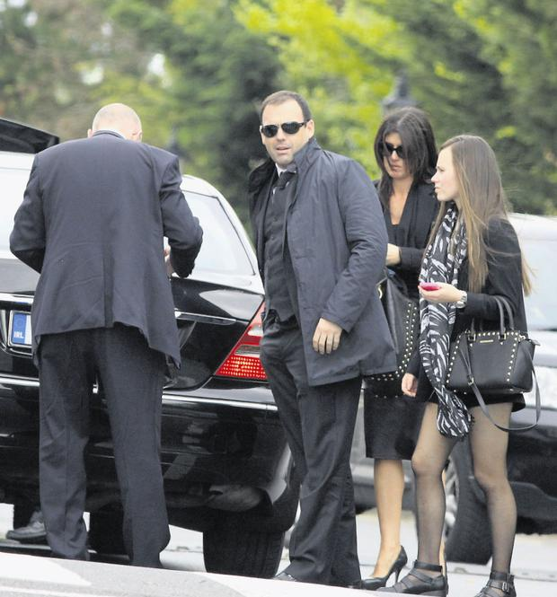 Daniel Kinahan at the funeral of his mother