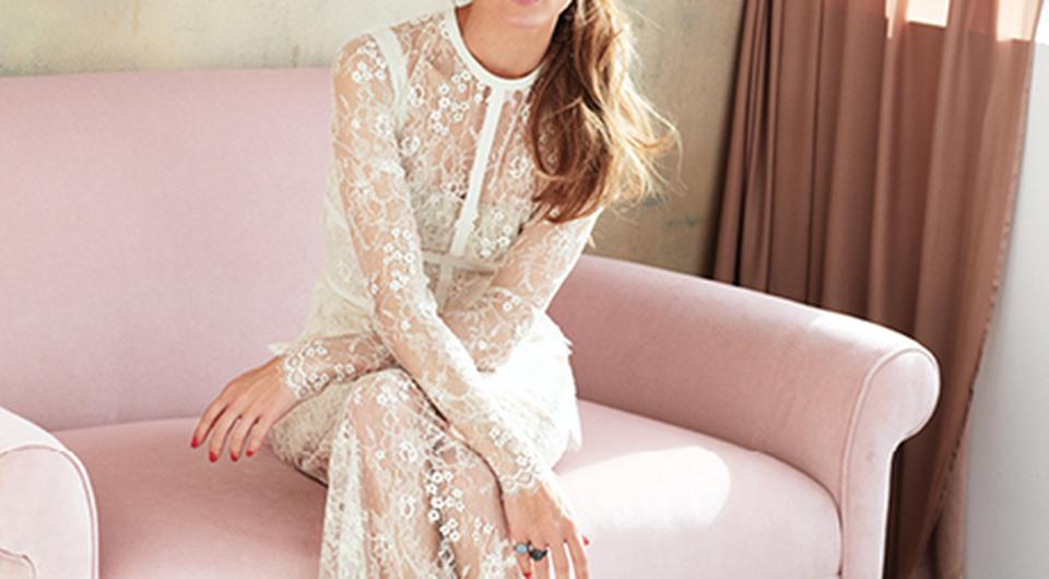 Olivia in the June/July issue of Brides magazine