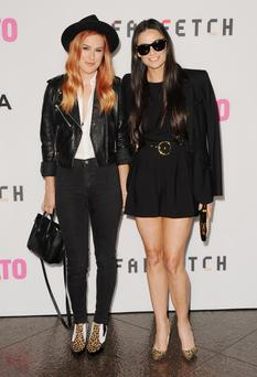 Actress Rumer Willis and mom actress Demi Moore