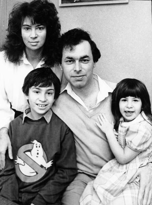 Alan Shatter with his wife Carol and children Dylan and Kelly at their home in Rathfarnham in 1989