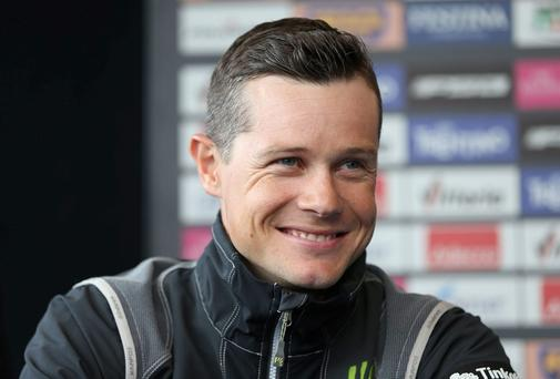 Nicholas Roche during a press conference at Belfast Waterfront Hall