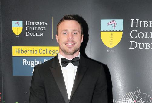 Tommy Bowe at the Hibernia College IRUPA Rugby Players Awards 2014 at the Doubletree by Hilton Hotel in Dublin. Picture:Arthur Carron