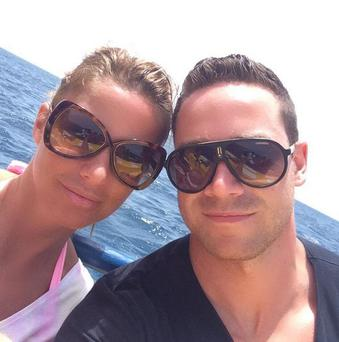 Katie Price and Kieran Hayler photograhed two weeks ago. (Twitter)