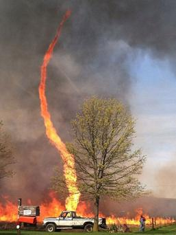 The snap of the fire twister