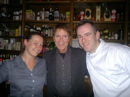 Cliff pictured with the staff at the Dublin restaurant