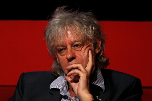 Singer Bob Geldof attends a media launch of the Africa Progress Report 2014 in London