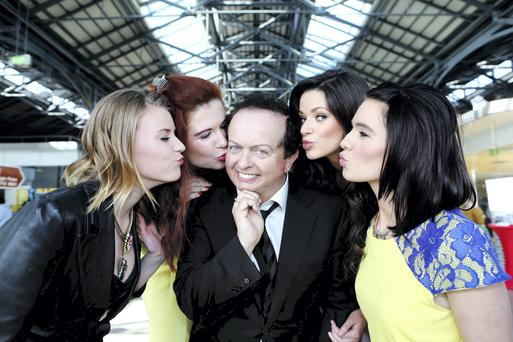 Coast Model Management models Stephanie, Trease, Cliona and Aileen with Marty Morrissey.