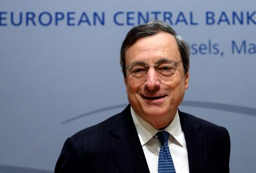 Mario Draghi, president of the ECB, during yesterday's news conference