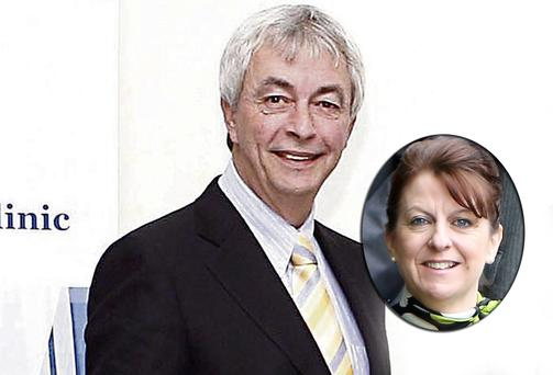 Former CRC chief executive Paul Kiely and (inset) new chief executive Stephanie Manahan