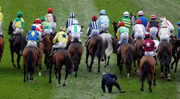 An inquiry into the start of the Aintree Grand National on April 5 was referred on to the British Horseracing Authority after jockeys chose not to participate in the on-course hearing.