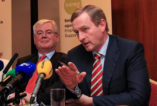 Tanaiste Eamon Gilmore and Taoiseach Enda Kenny