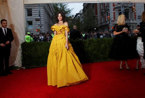 Actress Katie Holmes in that 'Little Bo Peep' number.