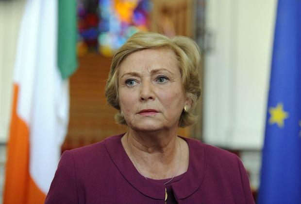 Frances Fitzgerald TD makes her first public appearance as Minister for Justice and Equality since Alan Shatter resigned yesterday. She was phoned by An Taoiseach, Enda Kenny at 6am today to ask her to take up the post to which she accepted.