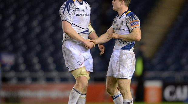 Leinster's Brian O'Driscoll and Leo Cullen